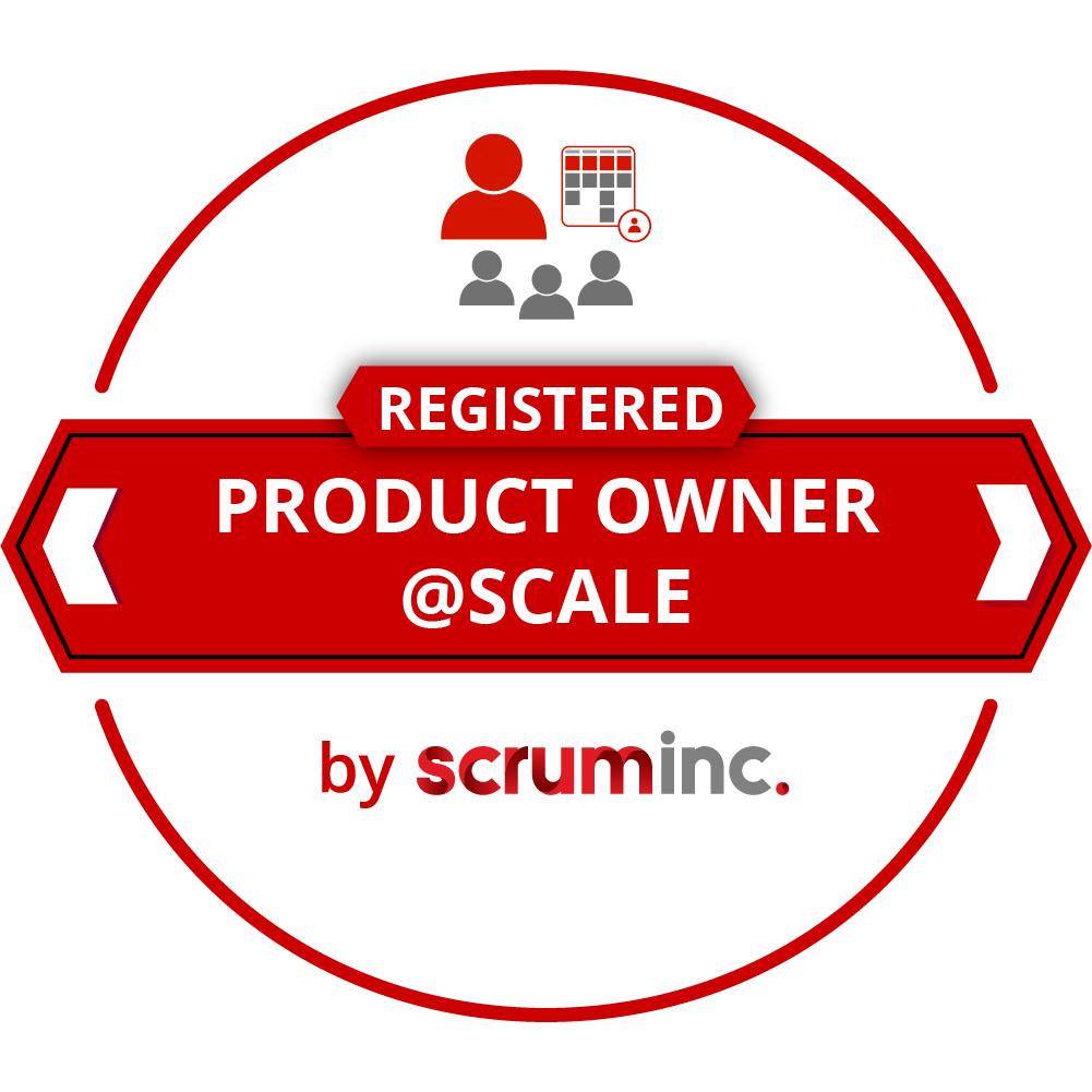 Product Owner@Scale Scrum Inc badge